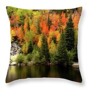 Bear Lake Autumn Throw Pillow