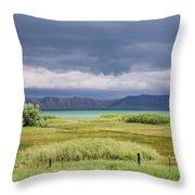 Bear Lake From Us 89 Throw Pillow