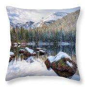 Bear Lake Holiday Throw Pillow
