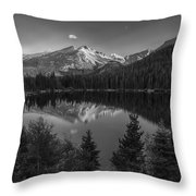 Bear Lake In Black And White Throw Pillow