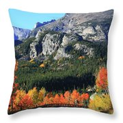 Bear Lake Road In Autumn Throw Pillow