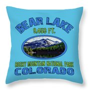 Bear Lake Rocky Mountain National Park Colorado Throw Pillow