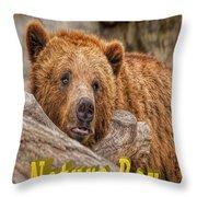 Bear Nature Boy Throw Pillow