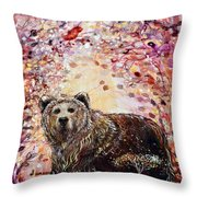 Bear With A Heart Of Gold Throw Pillow
