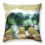 Bear On The Little Tennessee River Throw Pillow