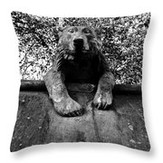 Bear On The Wall Throw Pillow