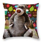 Bear Playtime Throw Pillow