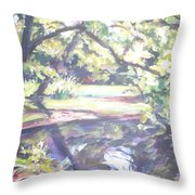 Bear Pond Throw Pillow