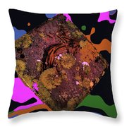 Bear Right To The 60s Throw Pillow