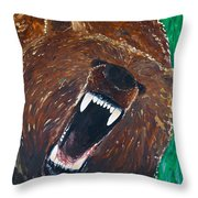 Circotm Decorative Pillow Mini Bear : Bear Roar Framed Print by Sam Hulance