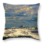 Bear Tooth Mountain Range Throw Pillow