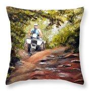 Bear Wallow Rider Throw Pillow