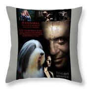 Bearded Collie Art Canvas Print - Hannibal Movie Poster Throw Pillow