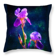 Bearded Iris 3 Throw Pillow by Sherri Meyer
