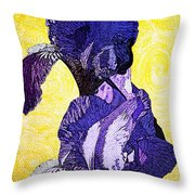 Bearded Iris Throw Pillow