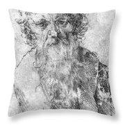 Bearded Man Throw Pillow