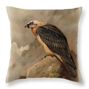 Bearded Vulture By Thorburn Throw Pillow