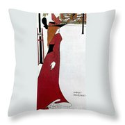 Beardsley: Poster Design Throw Pillow
