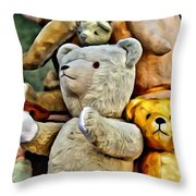 Bears For Sale Throw Pillow