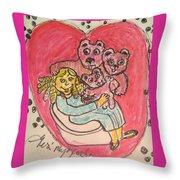 Bear's Love's Hugs Throw Pillow