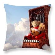 Bears Winter Holidays Throw Pillow