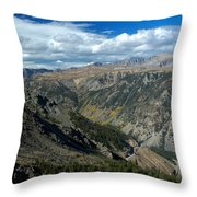 Beartooth Mountain Vista Throw Pillow