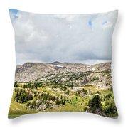 Beartooth Mountains Panorama Throw Pillow