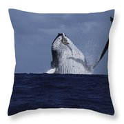 Beastie Waving Throw Pillow