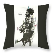 Beastly Birds And The Feral Swine Hunter Throw Pillow