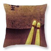 Beat In Time Throw Pillow