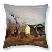 Beat Up Old House Throw Pillow