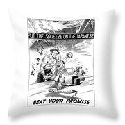 Beat Your Promise Cartoon  Throw Pillow