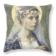 Beate Maria Throw Pillow
