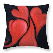Beating Hearts  Throw Pillow