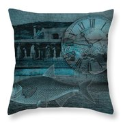 Beating The Blues Throw Pillow