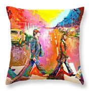 Beatles Abbey Road  Throw Pillow