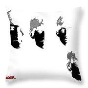 Beatles Meet The Negative Throw Pillow