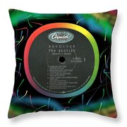 Beatles Revolver Rainbow Lp Label Throw Pillow