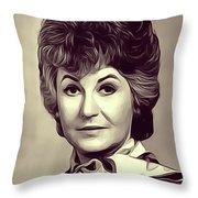 Beatrice Arthur, Vintage Actress Throw Pillow