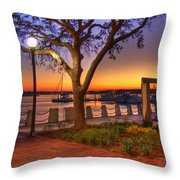Beaufort Waterfront Throw Pillow