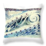 Beaufort Wind Force Scale Throw Pillow