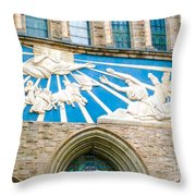 Beauiful Church Design In New York City Throw Pillow