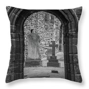 Beauly Priory Arch Throw Pillow