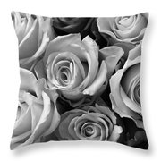 Beauties In Black And White Throw Pillow