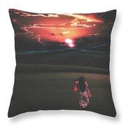 Beauties Of The Desert At Sunset Throw Pillow
