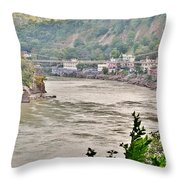 Beautiful Afternoon On The Ganges Throw Pillow