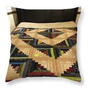 Beautiful Amish Quilt Throw Pillow