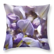 Beautiful And Magical Wisteria  Throw Pillow