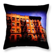 Beautiful Architecture Of New York - Ship Of State Throw Pillow