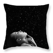 Beautiful Aroused Woman Throw Pillow